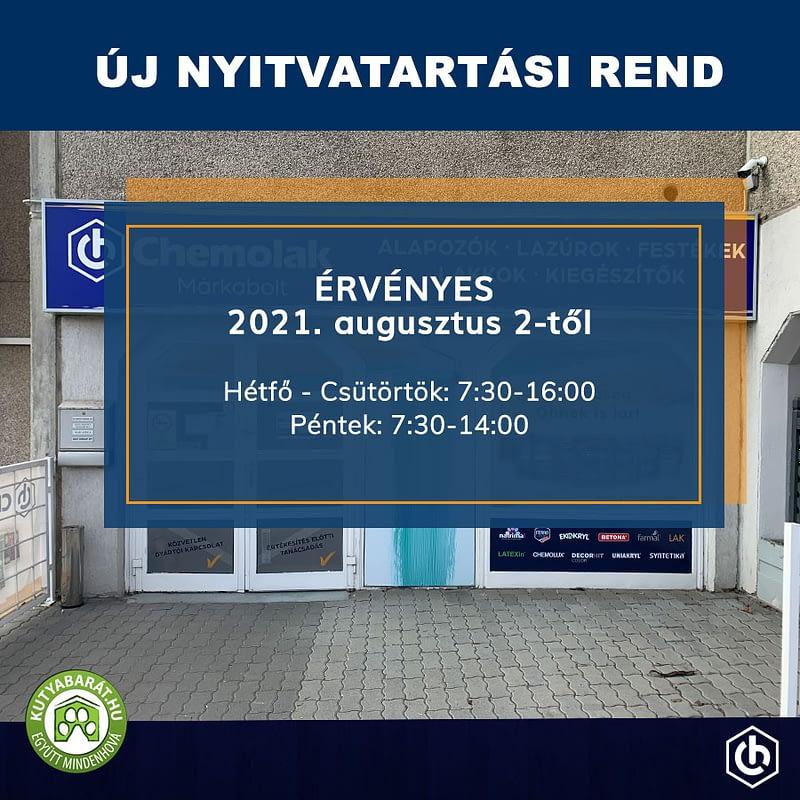 Új nyitvatartási rend 2021.08.02-től 3